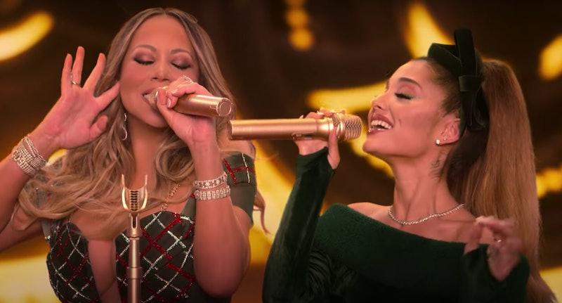 Mariah Carey and Ariana Grande in 'Mariah Carey's Magical Christmas Special'