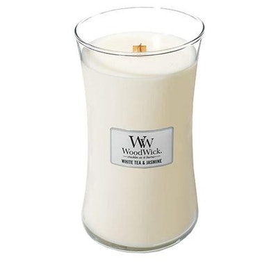 Woodwick White Tea and Jasmine Large Jar Candle
