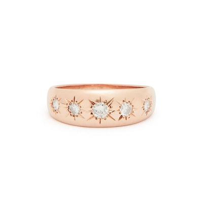 The F&B Diamond 5-Starburst Ring