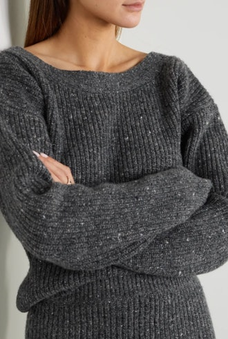 Beverly ribbed wool and cashmere-blend sweater