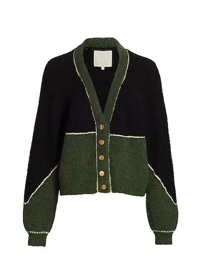Golden Knit Colorblock Cardigan