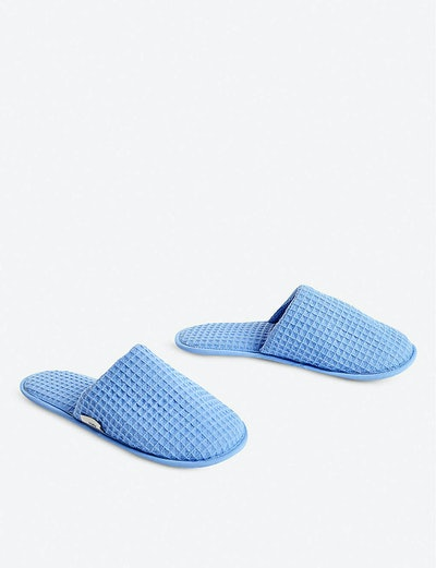 HAY Waffle cotton-blend slippers