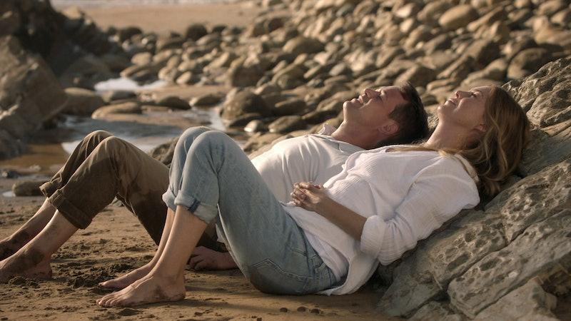 T.R. Knight as George O'Malley and Ellen Pompeo as Meredith Grey in 'Grey's Anatomy' Season 17 via A...