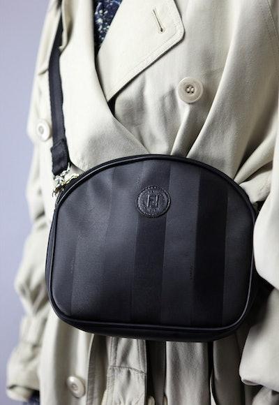 Rare Vintage 90's Fendi Clutch Bag in Black