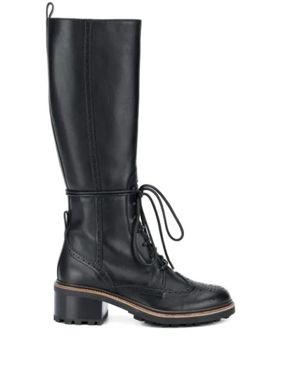 Franne lace-up high boots
