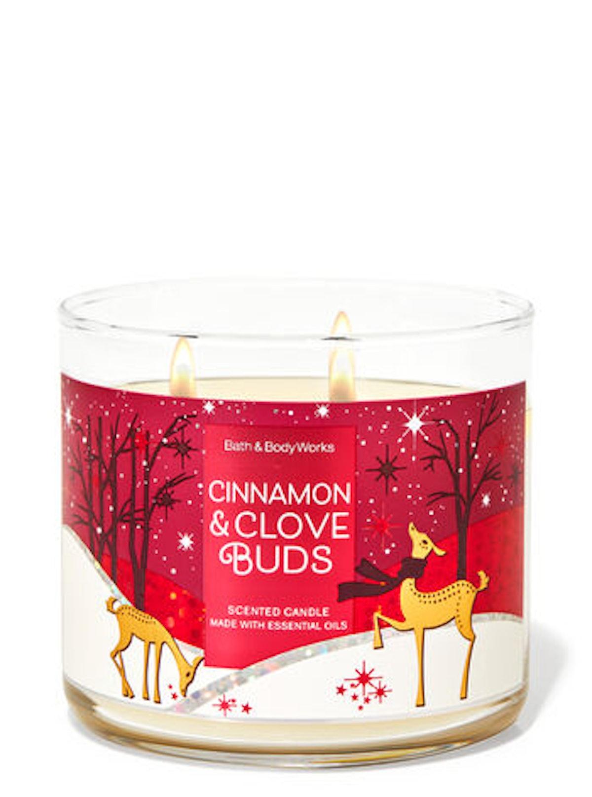 Cinnamon Clove Buds Three-Wick Candle