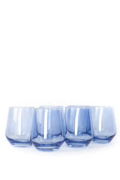 Colored Wine Stemless, Set of 6