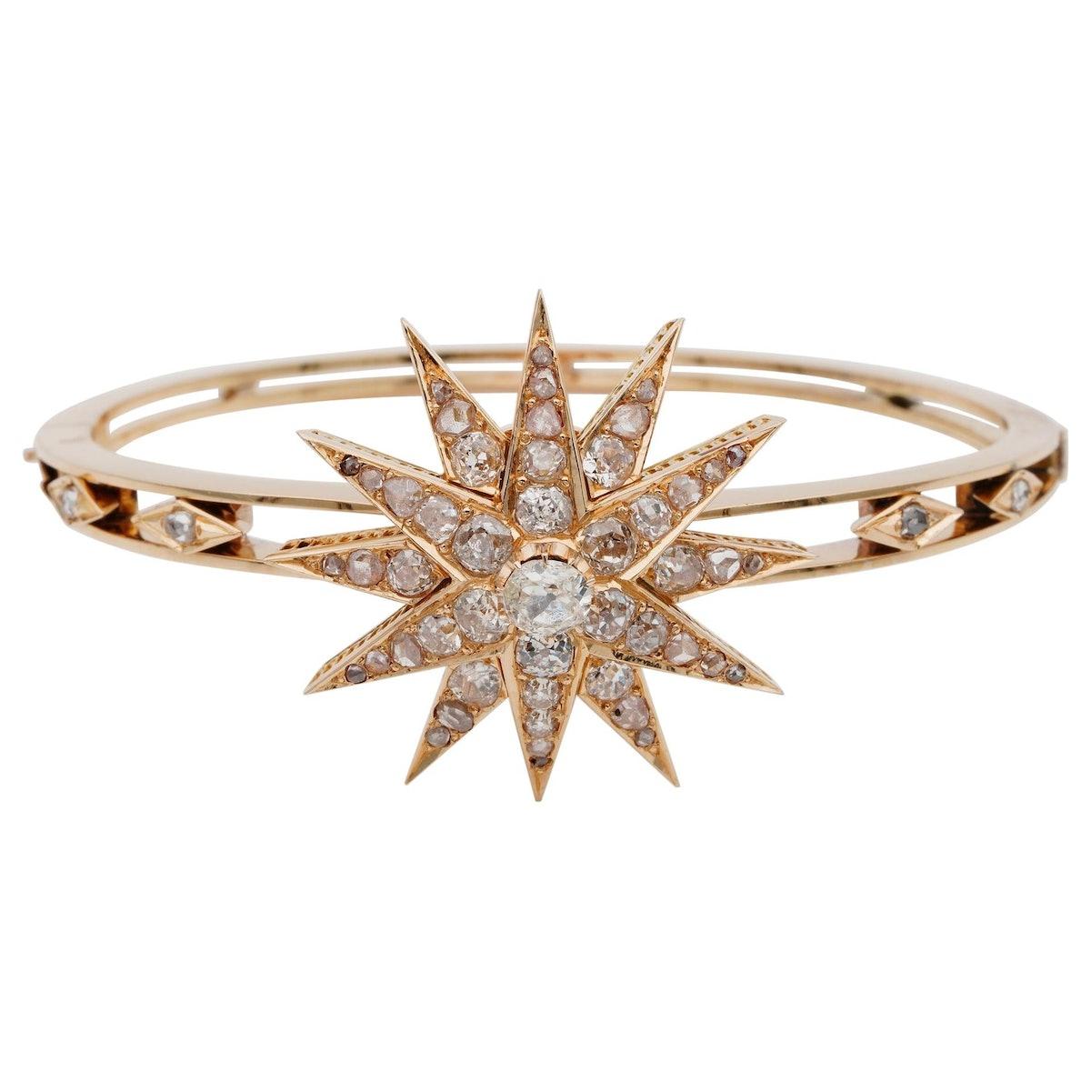 Celestial Victorian Diamond Bangle