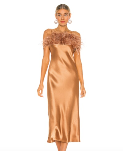 Satin Cerise Dress
