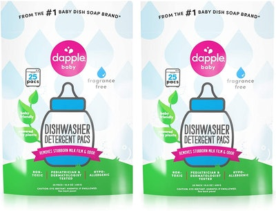DAPPLE Baby Dishwasher Pacs, 25 Count (2-Pack)