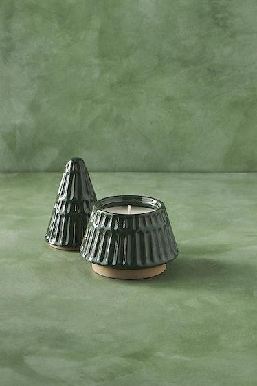 Evergreen Tree Ceramic Candle