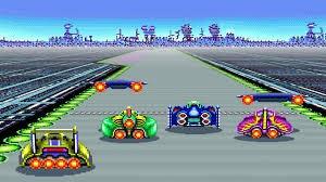 F-Zero's four cars in Mute City