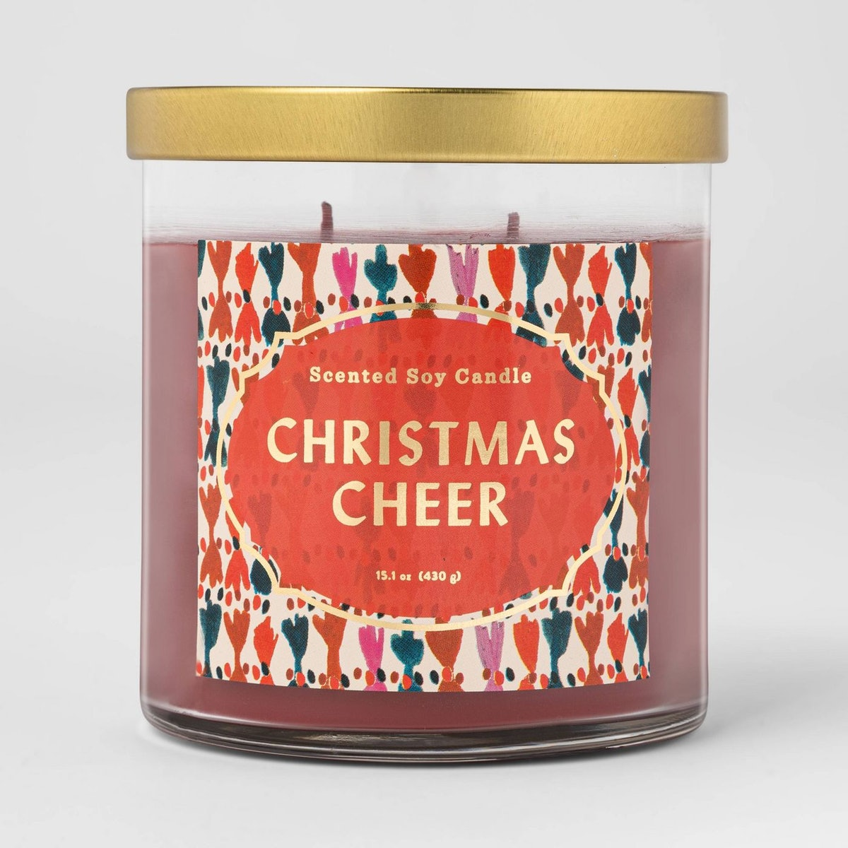 15.1 oz Lidded Glass Jar Candle — Christmas Cheer