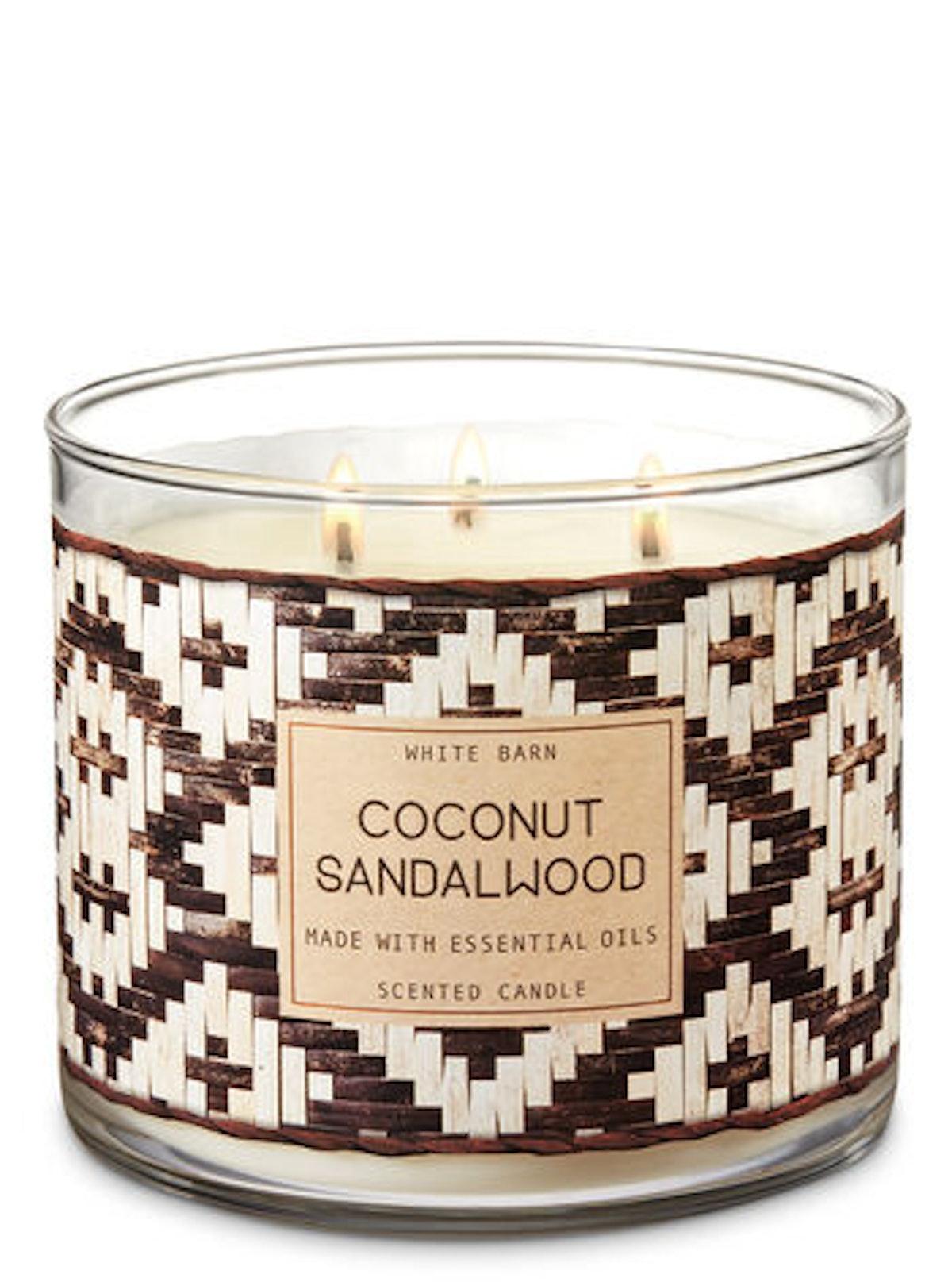 Coconut Sandalwood Three-Wick Candle