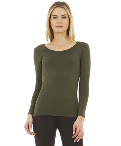 Thermajane Fleece-Lined Thermal Shirt