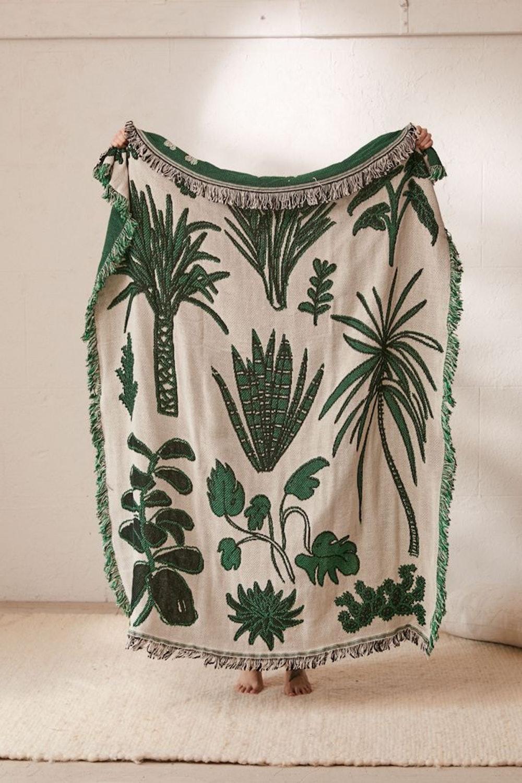 Calhoun & Co. Plants! Throw Blanket