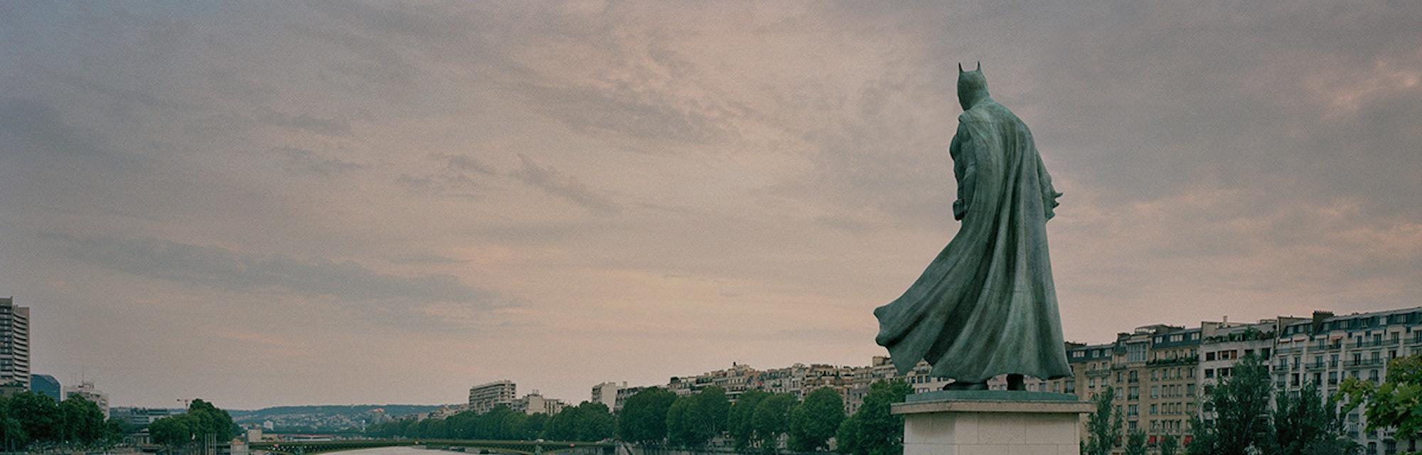 Batman statue in Paris