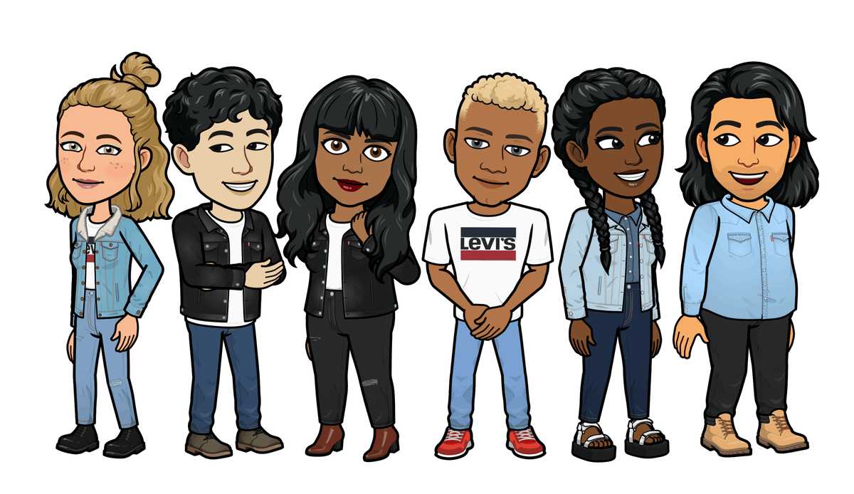 Snapchat's new Levi's Bitmoji digital collection lets you twin with your online avatar.