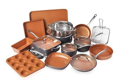 Gotham Steel 20-Piece All-In-One Kitchen Cookware + Bakeware Set