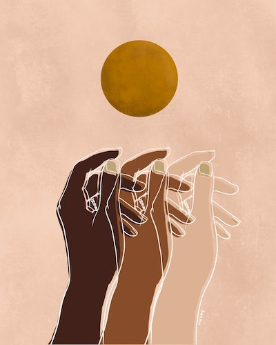 'Together' Digital Art Print