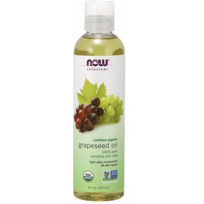 Now Solutions Organic Grapeseed Oil, 8 Oz.