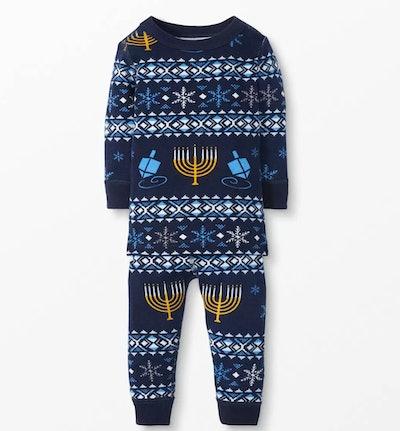 Organic Cotton Long John Pajamas for Hanukkah