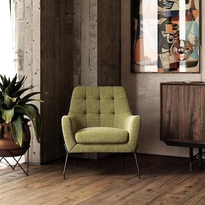 Queer Eye Brayden Modern Accent Chair in Green