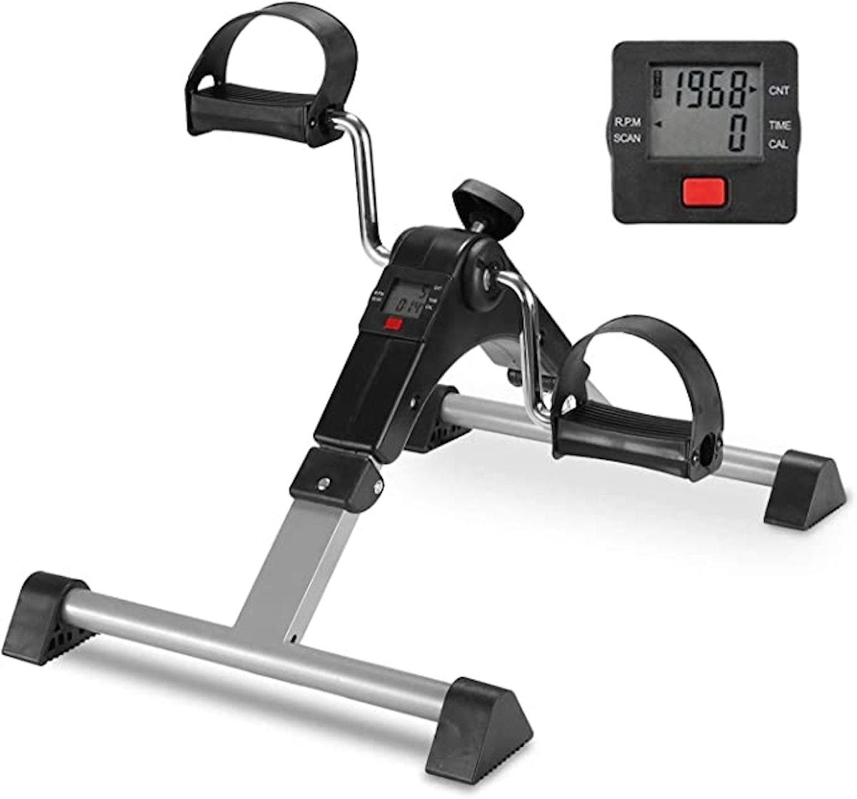 Home Pedal Exerciser Under Desk Leg Exerciser Mini Exercise Bike
