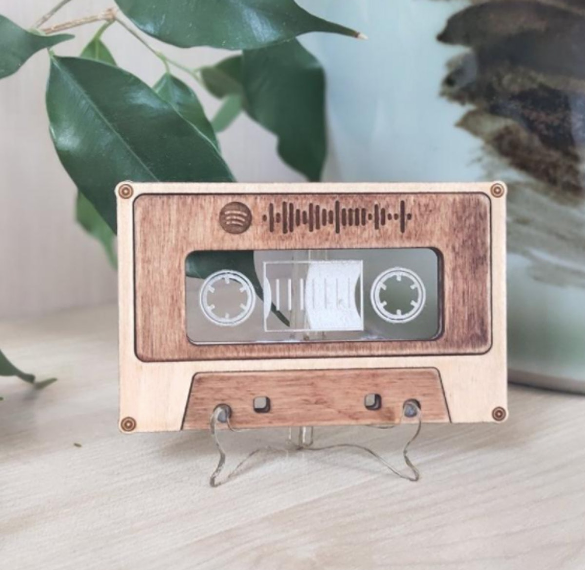 Vintage cassette with Spotify code Scannable Spotify link QR code Spotify code (song or playlist)