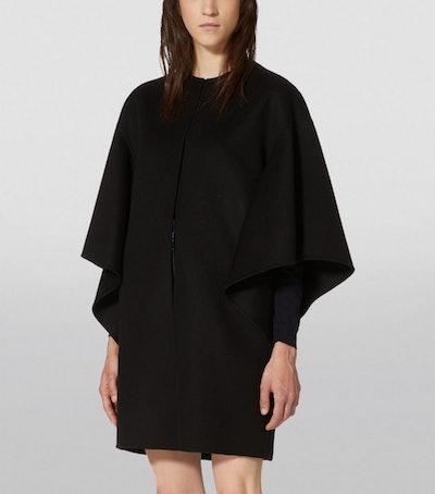 Wool-Cashmere Cape Coat