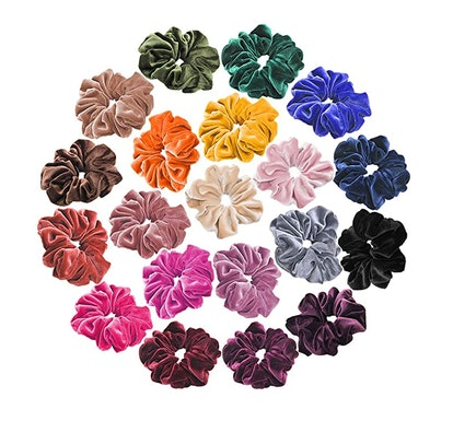 J-MEE Velvet Hair Scrunchies (20-Piece)