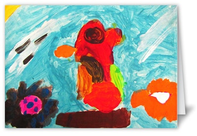 Kids Artwork Custom Card Project