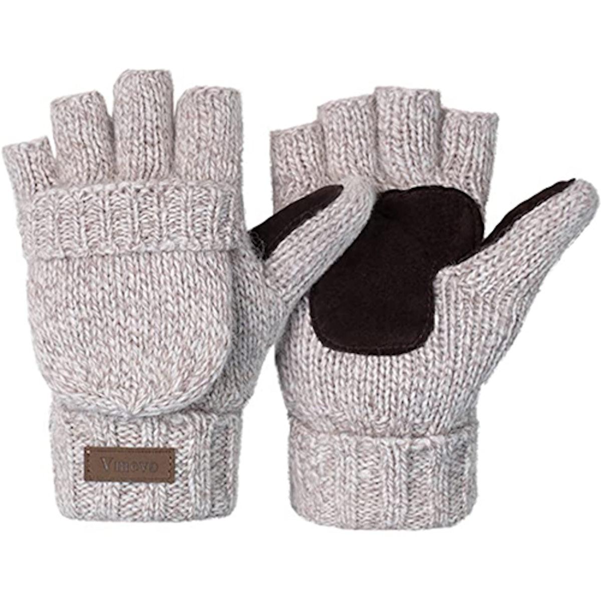 Vigrace Knitted Convertible Fingerless Gloves
