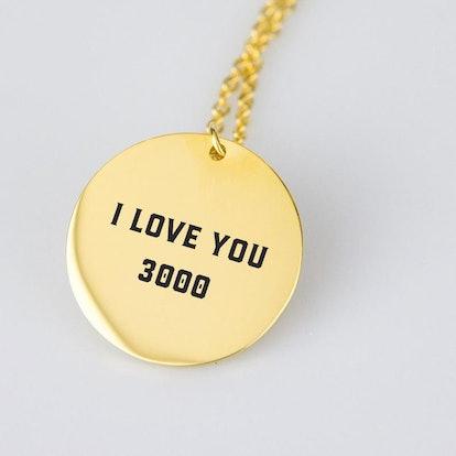 Avengers Iron Man I Love you 3000 Necklace