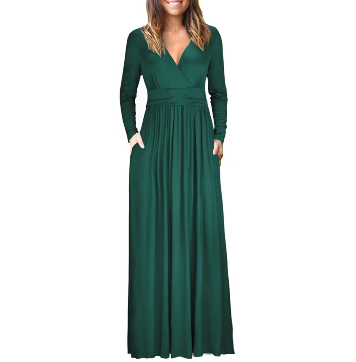 OUGES Long Sleeve Maxi Dress
