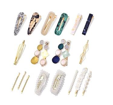 Cehomi Pearl Hair Clips (20 Pieces)