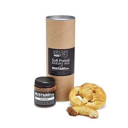 Soft Pretzel Baking Mix with Mustard