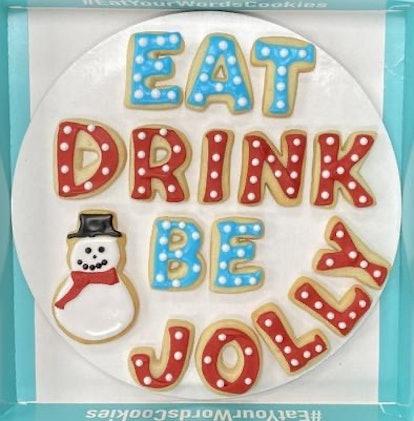 Eat Drink Be Jolly Cookies