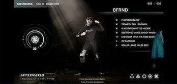 Balenciaga Afterworld Video Game