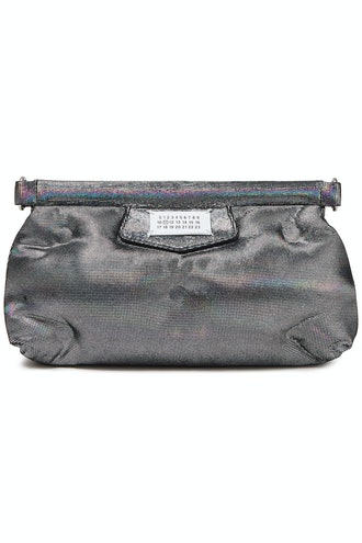 Glam Slam Quilted Holographic Suede Clutch