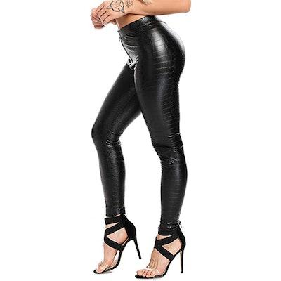SEASUM Faux Leather Pants