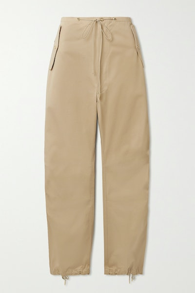 Cotton-Twill Tapered Pants