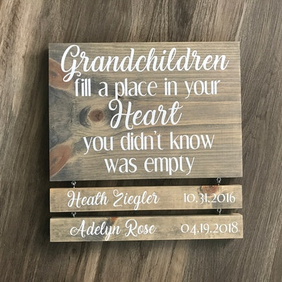 Grandparents Sign with Names