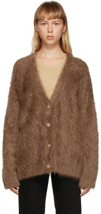 Tan Alpaca Biella Cardigan