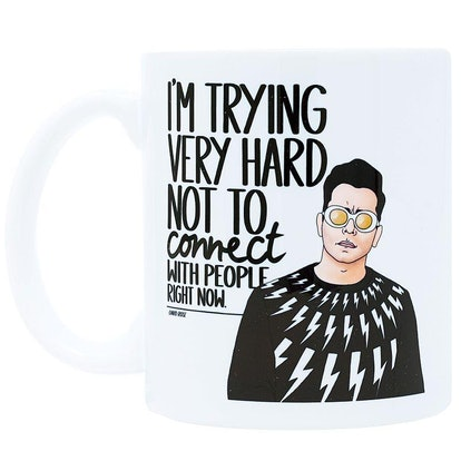 Trying Very Hard Not to Connect With People Ceramic Coffee Mug