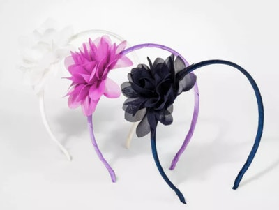 Girls' 3pk Headband with Flower