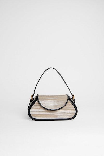 Uma Mini Ivory Crushed Velvet Bag