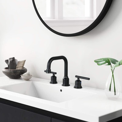WOWOW Two Handles Widespread Bathroom Faucet