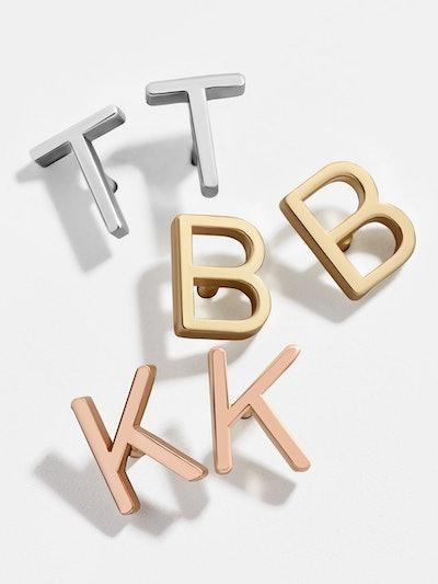 Maya Brenner 14K Gold Alphabet Stud Earrings