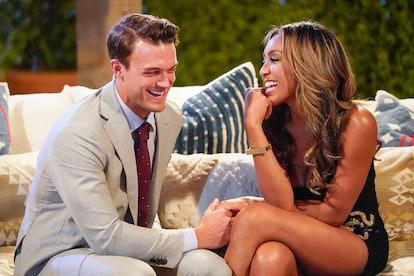 Ben and Tayshia in 'The Bachelorette,' via ABC press site.